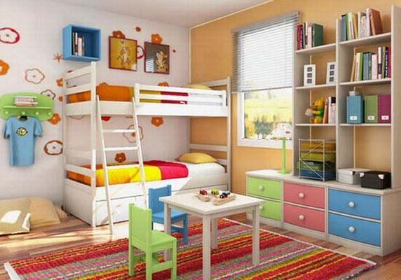 decoração quarto de criança colorido