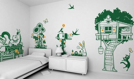 baby jungle theme wall decals