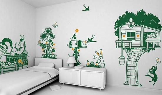 decoração interior de paredes