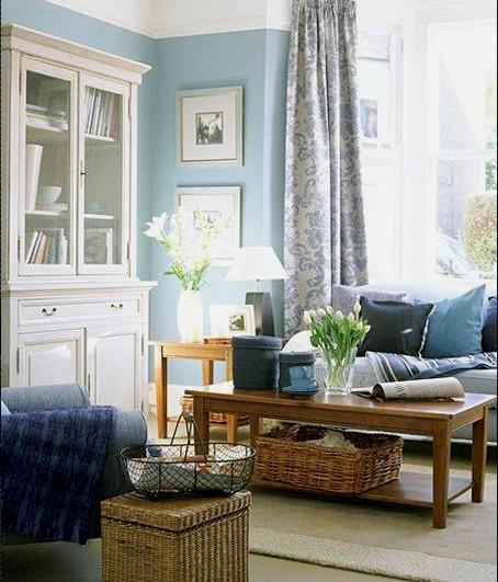 decoracao de interiores casas pequenas:Blue Living Room