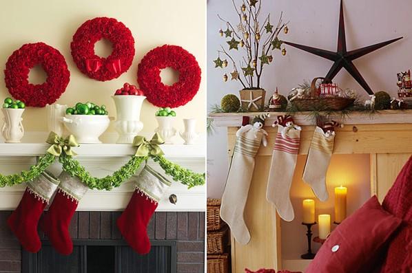 decoracao de interiores de casas para o natalDecorações de natal