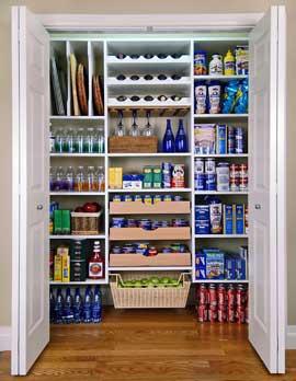 Organizar a despensa da cozinha