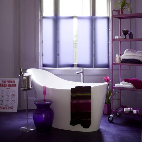 Decora o de casas modernas for Mauve bathroom ideas