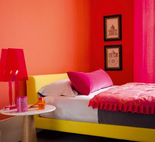 Interiores de casas modernas for Bedroom orange paint ideas