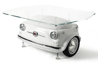Fiat 500 mesa branca