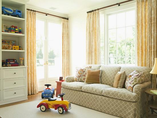 Decora o de salas de estar for Kid friendly family room decorating ideas