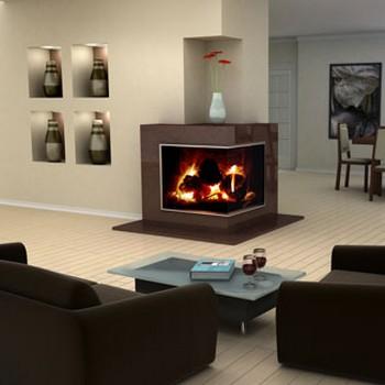 salas de estar com lareira. Black Bedroom Furniture Sets. Home Design Ideas
