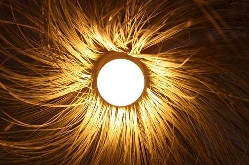 Lâmpada de bambu