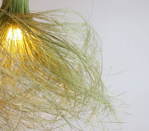 Lâmpada decorativa de bambu
