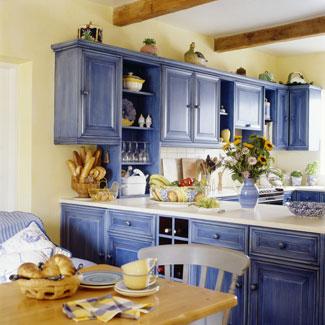 foto de decora o de cozinha em tons de azul