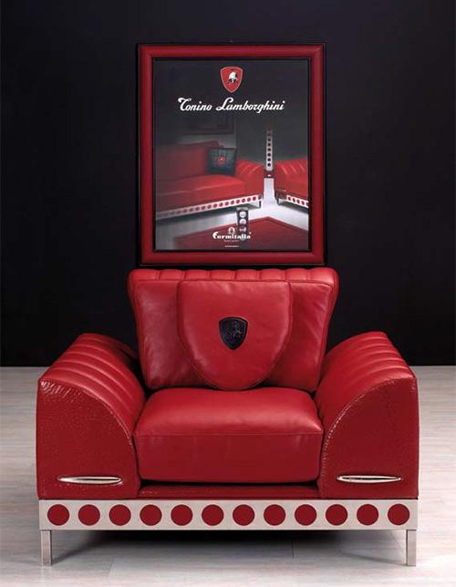 Sofá vermelho Lamborghini