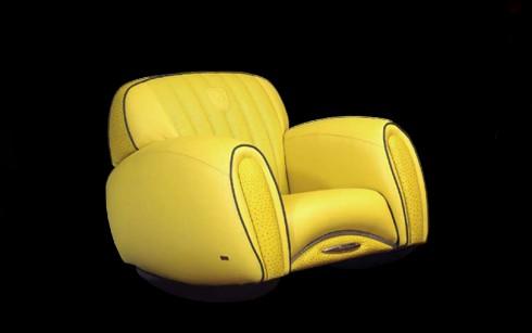 Poltrona Lamborghini amarela