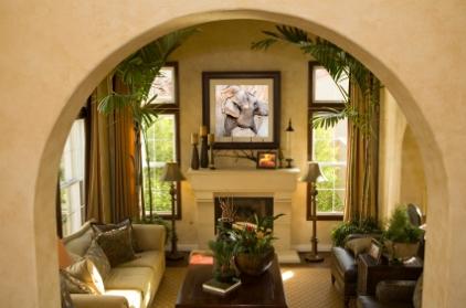 Decora o de interiores inspirada em motivos tropicais for Decorating ideas for a very small living room