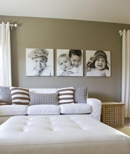 Decorar paredes com fotografias