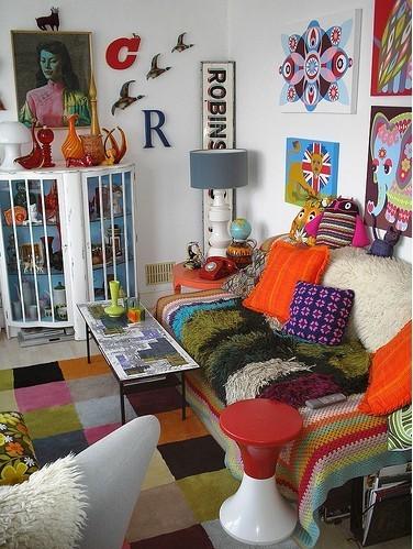 decoração pop art colorida