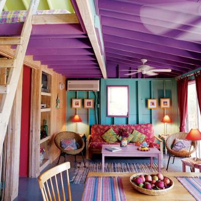 decoração de interiores coloridos