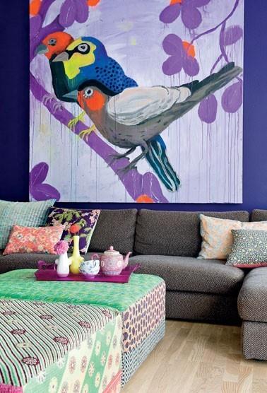 decoração de paredes coloridas