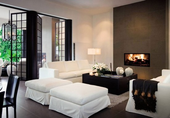 decoracao de sala luxo:Divisões luxuosas – sala de estar moderna