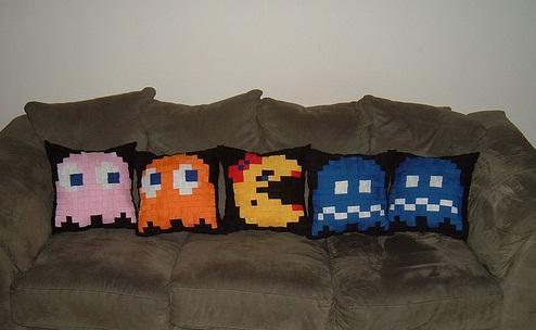 almofadas Pac-Man