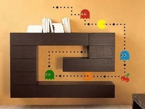 Adesivos decorativos do Pac-Man