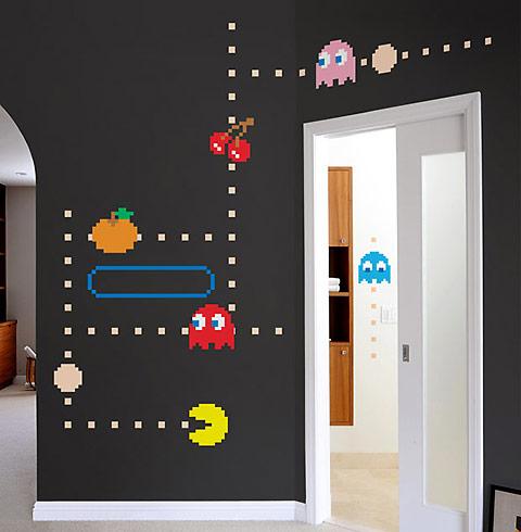Adesivos decorativos Pac-Man