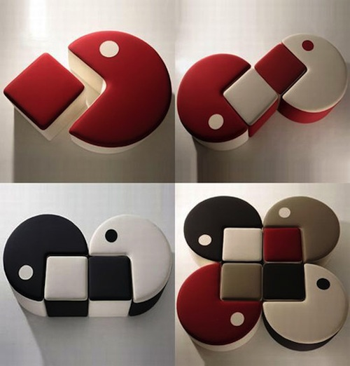 Poofs decorativos Pac-Man