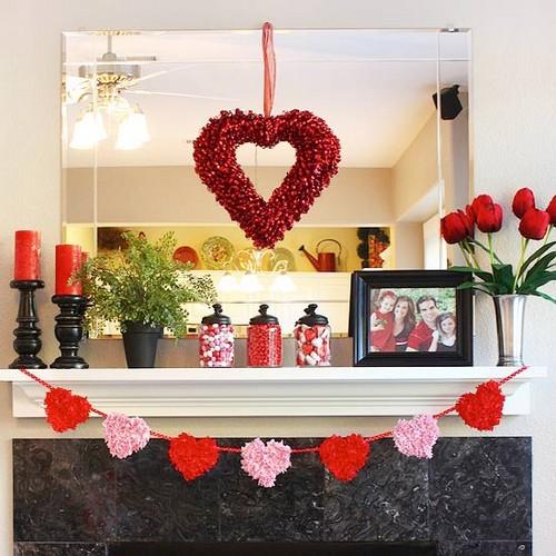 decoracao lareira dia dos namorados Decoração para o Dia dos Namorados