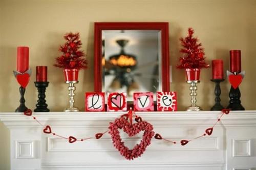 decoracao lareira dia namorados 1 Decoração para o Dia dos Namorados