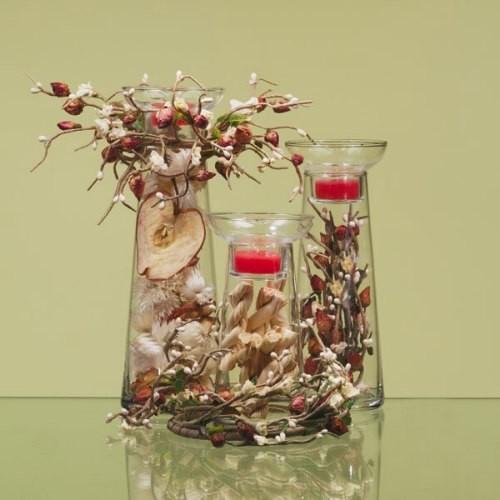 Vasos decorativos de vidro decorados
