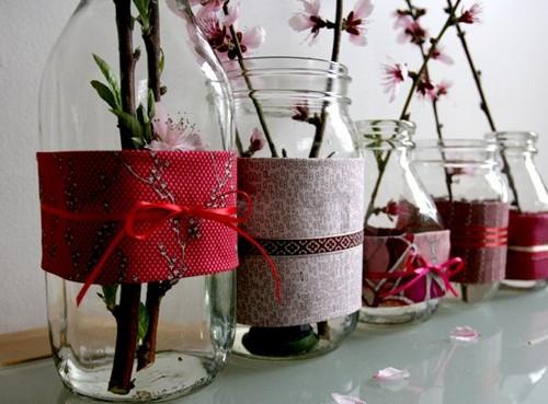vasos decorativos de frascos de vidro