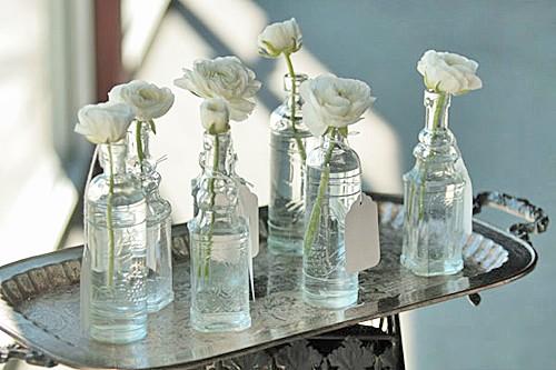 Vasos decorativos com frascos