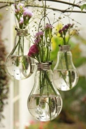 Vasos decorativos de lâmpadas