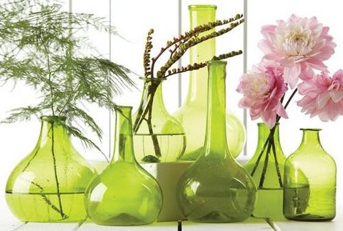 Vasos decorativos verdes