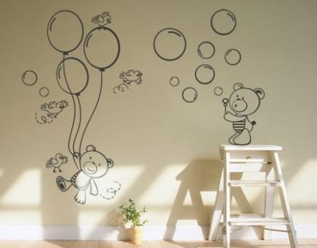 Decorar um quarto de crian a sem pintura for Murales decorativos para bebes