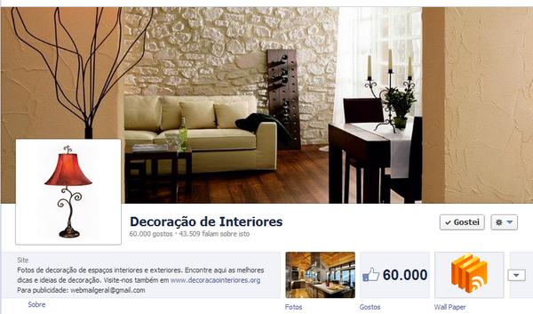 facebook decoração de interiores
