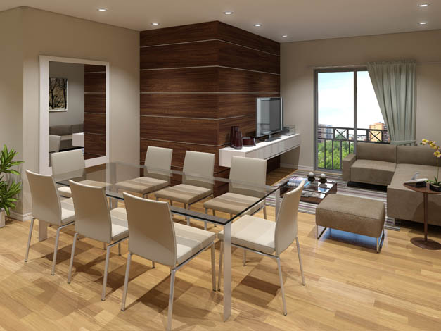 Sala De Estar E Jantar Conjugadas ~ decoração de salas de estar e salas de jantar conjugadas