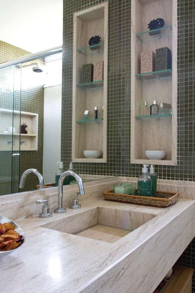 decoração de banheiros de apartamento pequeno -> Nicho Banheiro Apartamento