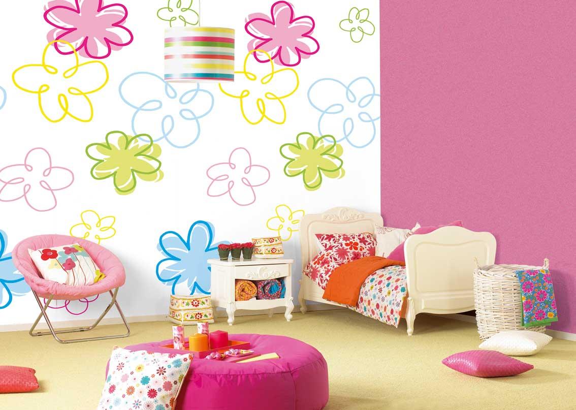 Decoração de quartos papel de parede