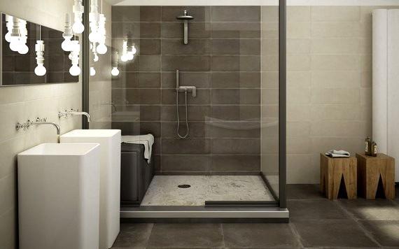Banheiros com porcelanato for Modelos de ceramicas para banos pequenos