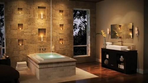 Banheiros decorados com pedras -> Banheiro Decorado Pedras