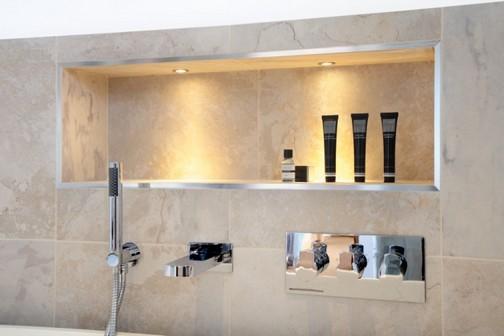 Banheiros modernos com nicho -> Banheiro Cm Nicho