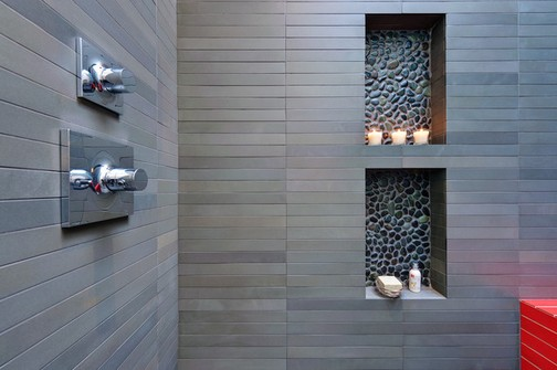Banheiros modernos com nicho