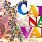 Decoração de Carnaval com letras