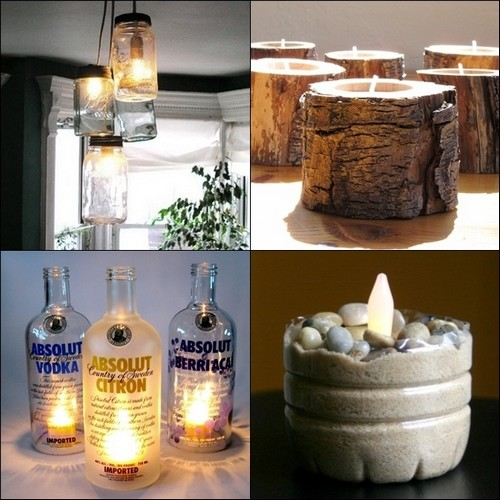 Como decorar reciclando for Home decor ideas from recycled materials