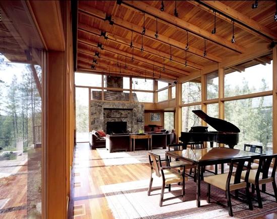 decoracao de interiores de casas de madeira:decoração de casas de madeira montanha 300×237