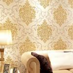 Decoração de parede com tecido
