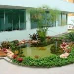 Decoração de lagos de jardim