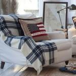 Decoração de sofás com mantas
