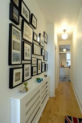 Corredores decorados com fotos