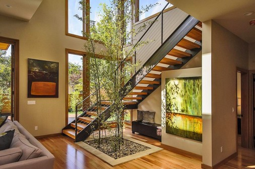 escada jardim madeira : escada jardim madeira:Fotos de jardins de inverno sob escadas